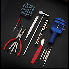 16pc Deluxe Adjust Watch Back Case Spring Bar Remover Opener Tool Kit Repair Fix Pin Link Remover Set