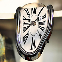 Cool Novelty Timepiece Art Warp Chrome Melting Quartz Irregular Cute Clock