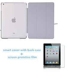 caso colores sueño auto soporte de cuero sólido con tapa trasera y protector de pantalla para el ipad 234 (colores surtidos)