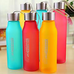 600ml pc sports camping rejser bærbare matteret vandflaske (tilfældig farve)