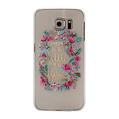 Faceplate Pattern PC Material Phone Case for Samsung Galaxy S6 S6 Edge