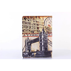 Building Scenery Special Design PU Leather Origami Cases Folio Cases For iPad 2/3/4