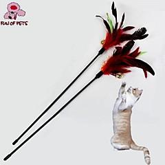 고양이 반려동물 장난감 티저 / 깃털 장난감 벨 레드 직물