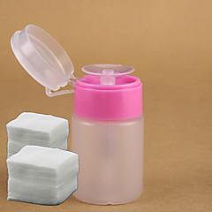 1st rosa pumpdispenser flaska för remover + 200st spik konst remover bomull nagel konst verktyg nagellack flytande filer inställd