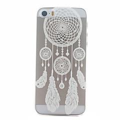 campanula padrão branco ultrafinos capa dura caso de volta para o iphone 5 / 5s
