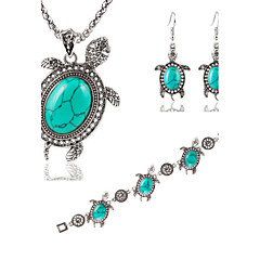 HUALUO®European and American Fashion Metal Little Turtle Earrings Bracelet Necklace Sets