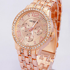 Women Lady Gold Watch Rose Gold Quartz Watch