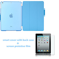 Solid Colors Auto Sleep  Leather Stand Case with Back Cover and Screen Protector for iPad Mini 123 (Assorted Colors)