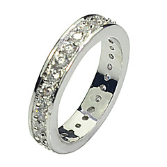 Size 7/8/9 High Quality Women White Sapphire Rings 10KT White Gold Filled Ring