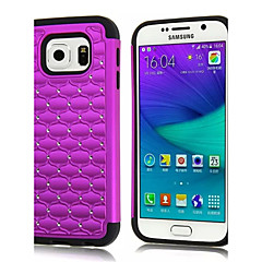 For Samsung Galaxy Case Shockproof / Rhinestone Case Back Cover Case Geometric Pattern PC Samsung S6 edge / S6