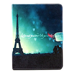 Tower under the romantic couple Pattern Full Body Cover for iPad 2/3/4