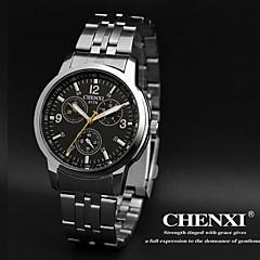 CHENXI® Αντρικά Ρολόι Καρπού Χαλαζίας Γιαπωνέζικο Quartz Ανοξείδωτο Ατσάλι Μπάντα Ασημί Λευκό Μαύρο