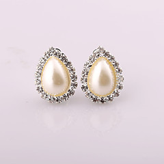 Fashion New Style Drops Of Water Pearl/Rhinestone Earring Clip Earrings Wedding/Party/Daily/Casual 2pcs