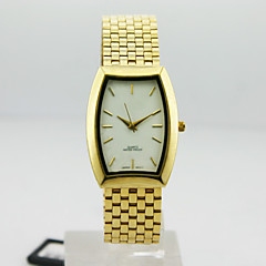 Men's Analog Alloy Case Square Dial Alloy Band Quartz Watch Men Business Watch Gift Watch(Assorted Colors)