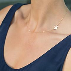 Kadın's Gerdanlıklar Zincir Kolyeler Animal Shape alaşım Basic Tasarım sevimli Stil minimalist tarzı kostüm takısı Mücevher Uyumluluk