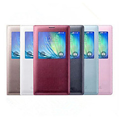 Voor Samsung Galaxy hoesje met venster / Flip hoesje Volledige behuizing hoesje Effen kleur PU-leer Samsung A8 / A7 / A5 / A3