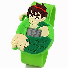 아이들의 귀여운 만화 실리콘 아름다운 디지털 젤 박수 시계