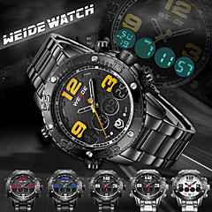 Erkek Bilek Saati Japon Kuvartz LCD / Takvim / Kronograf / Su Resisdansı / Çift Zaman Bölmeli / alarm / Spor Saat Paslanmaz Çelik Bant