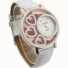 Dames Modieus horloge Kwarts PU Band Heart Shape Zwart / Wit / Rood / Roze / Paars Merk-