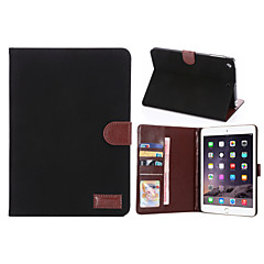 lerret stil pu lærveske kortspor& lommebok med holder for ipad mini 2/3 (assorterte farger)