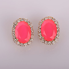 New Fashion Color Ellipse Earrings Wedding/Party/Daily/Casual 2pcs