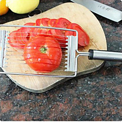 Stainless Steel Tomato Slicer Strawberry Banana Eco with Soft Grips