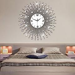nowoczesnym stylu metalu wyciszenie zegar ścienny