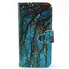For Samsung Galaxy etui Kortholder Pung Med stativ Flip Etui Heldækkende Etui Træ Kunstlæder for SamsungS6 edge S6 S5 Mini S5 S4 Mini S4