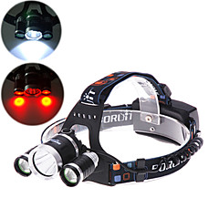 4 Mode 4000 Lumens  Headlamp 18650 Waterproof Bezel LED Cree XM-L T6