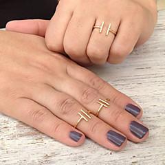 Maxi anel Liga Ajustável Estilo simples Moda Dourado Prata Jóias Festa 1peça