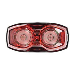 2-øyne sykkel sykkel 3-modus rødt lys førte sikkerhet varselsignallampe baklys
