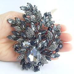 bryllup 4.33 tommer vintage grå rhinestone krystal blomst broche art deco broche buket