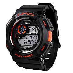 Hombre Reloj de Pulsera Cuarzo Japonés LCD / Calendario / Cronógrafo / Resistente al Agua / alarma / Reloj Deportivo Caucho Banda Negro