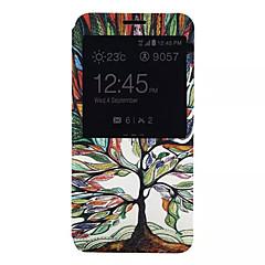 Για Samsung Galaxy Note Θήκες Καλύμματα με βάση στήριξης με παράθυρο Πλήρης κάλυψη tok Δέντρο Συνθετικό δέρμα για Samsung Note 5