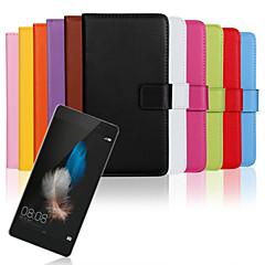 Varten Huawei kotelo / P8 / P8 Lite Lomapkko / Korttikotelo / Tuella / Flip Etui Kokonaan peittävä Etui Yksivärinen Kova Tekonahka Huawei