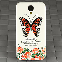 Drill and Rose Butterfly Pattern PC Back Cover Case for Samsung Galaxy S4/9500