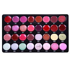 32-väri sävytetty huulipuna huulikiilto meikki paletti