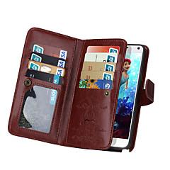 ji de carteira estojo de couro pu para Samsung Galaxy Note 5 / nota 4 com slot para cartão de 9 (cores sortidas)