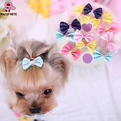 Gatos / Perros Accesorios de Pelo / Lazos Azul / Rosado / Amarillo / Rosa Ropa para Perro Primavera/Otoño Boda / Cosplay