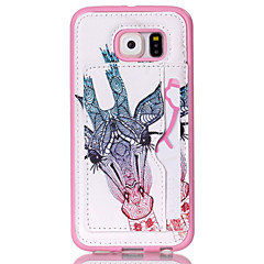 Giraffe Pattern Phone Shell  Card Holder For Samsung Galaxy S3 /S4/S5/S6/ S6 edge/S4 Mini /S5 Mini
