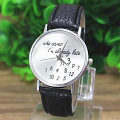 לנשים שעוני אופנה שעון יד קווארץ תבנית מפת העולם PU להקה יום יומי שעונים עם טקסט שחור לבן ירוק לבן שחור ירוק