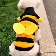 Gatos / Perros Disfraces / Saco y Capucha / Camiseta / Accesorios Amarillo Invierno Animal / Caricaturas Boda / Cosplay / Halloween