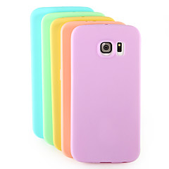 Solid Color TPU Back Cover Case for Samsung Galaxy S6edge(Assorted Colors)