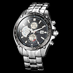 Men's Sport Watch Full Steel Dress Quartz Wrist Watch Analog Calendar/Water Resistant Vogue Clock Man (Assorted Colors) Cool Watch Unique Watch