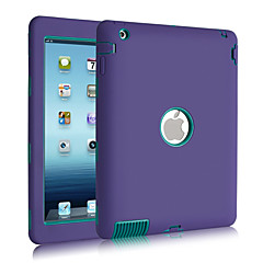 3 in 1 Combo Wave Pattern PC & Silicone Case with Stand for iPad 2/3/4