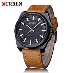 CURREN® Men's Fashion Dress Watch Japanese Quartz Military Design Leather Strap