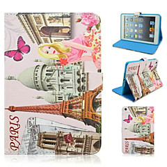 Fashion Architectural Girl Painted Protective Sleeve for iPad mini1/mini2/mini3