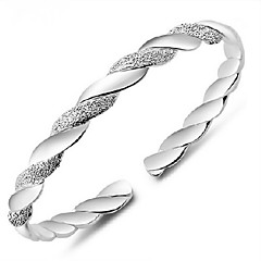 Bracelet/Cuff Bracelet/Silver Bracelet, Fashion Twist Sterling Silver Plated Bangles for Women Jewelry Christmas Gift 1 pcs