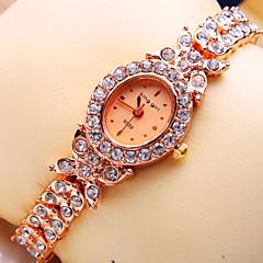 Women's New Luxury Trend Ellipse Diamond Dial Diamond Strap Fashion Quartz Bracelet Watch (Assorted Colors)