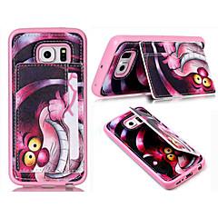 pu nahka silikoni lompakko tapauksissa seistä takakansi Samsung Galaxy S3 / S4 / S4 mini / S5 / S5 mini / S6 / S6 reuna